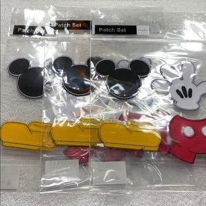 Mickey Mouse 3-Pack of 4 Piece Iron-On Patch Set